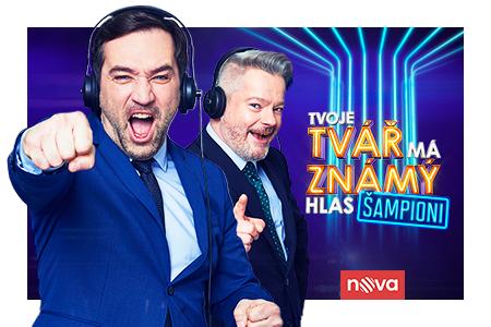 Tvoje tvář má známý hlas - Šampioni se vrací na pódium a Nadace Nova již po osmé v řadě podpoří Nadace a neziskové organizace!