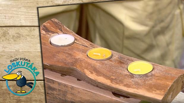 Jak moc jste zdatní v dílně? Z kusu dřeva může lehce vzniknout stojánek na svíčky