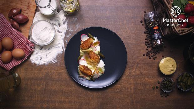 Raclette se škubánky a tatarkou podle Lei Skálové