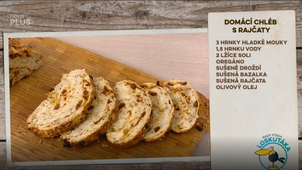 Rady ptáka Loskutáka - Domácí chléb s rajčaty