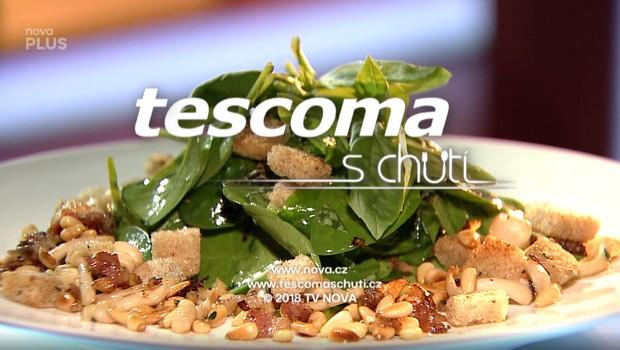 Salát z mladého špenátu s houbami shimej - 26. 05. 2020