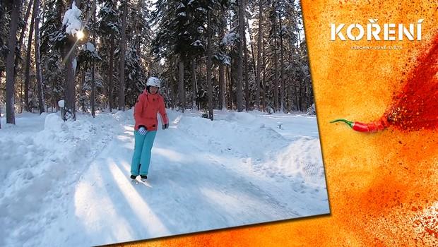 Navštivte toto zimní království. Lesní cesta se mění na úchvatnou bruslařskou trať