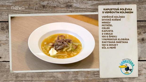 Kapustová polévka s vepřovým kolínkem - 3.11.2018