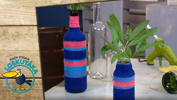 Recyklace prázdné lahve od vína: Vyrobte si z ní originální vázu!