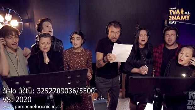 Dojemný vzkaz soutěžících Tváře: Poslechněte si společný song a pomozte zdravotníkům