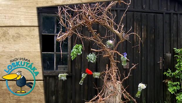 Originalitě se meze nekladou! Vyrobte si zahradní dekoraci ze suchých větví