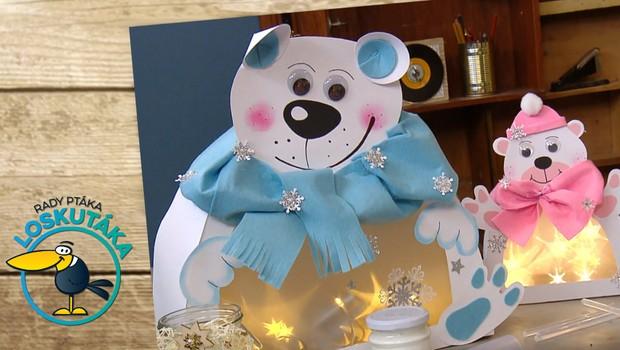 Využijte vlastnosti hvězdičkové fólie. Vyrobte si svítícího medvídka!