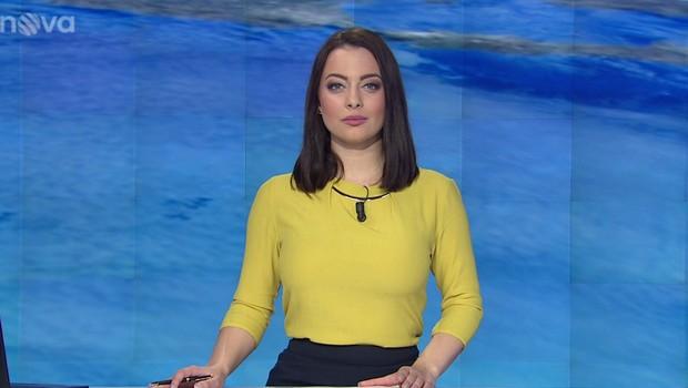 Veronika Petruchová moderuje Ranní Televizní noviny