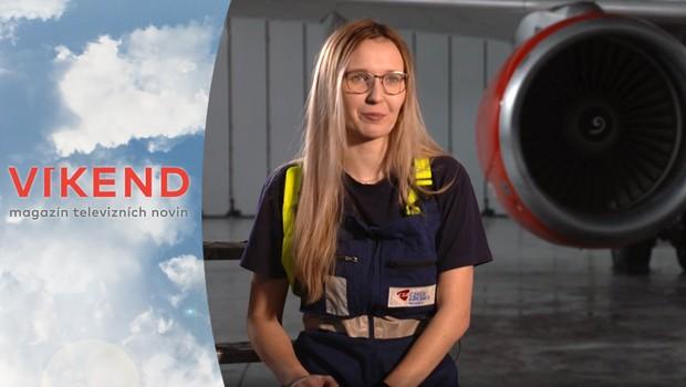 Letecký mechanik může být i mladá křehká žena! Proč svou práci miluje?