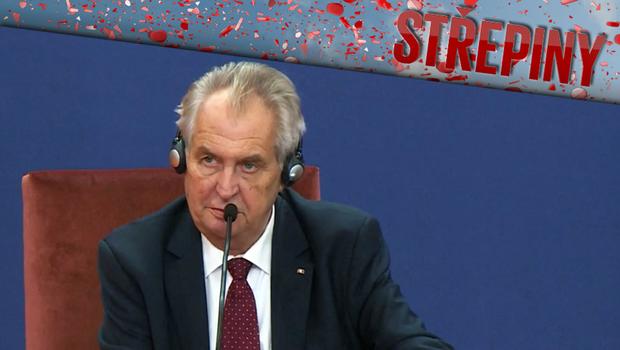Střepiny - Miloš Zeman v Srbsku