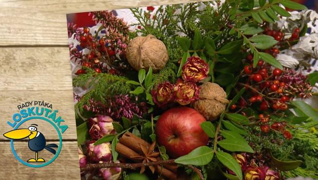 Floristou snadno a rychle! Zhotovte si sváteční kytici ze sušených květů a plodů