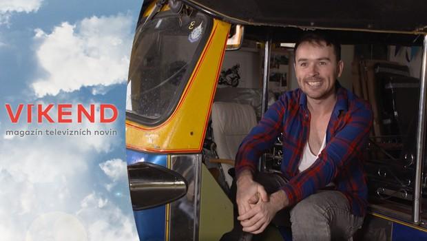 Neuvěřitelná cesta! Cestovatel jel asijskou tříkolkou z Thajska až na rodnou Moravu