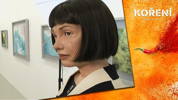 Umění už není pouze doménou lidí! Proběhla první výstava robotické malířky na světě