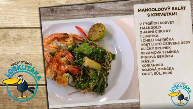 Rady ptáka Loskutáka - Mangoldový salát s krevetami