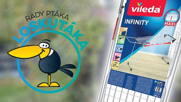 Soutěžte s pořadem Rady ptáka Loskutáka o roztahovací sušák na prádlo Infinity od Viledy