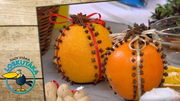 Rady ptáka Loskutáka - Vánoční dekorace z ovoce