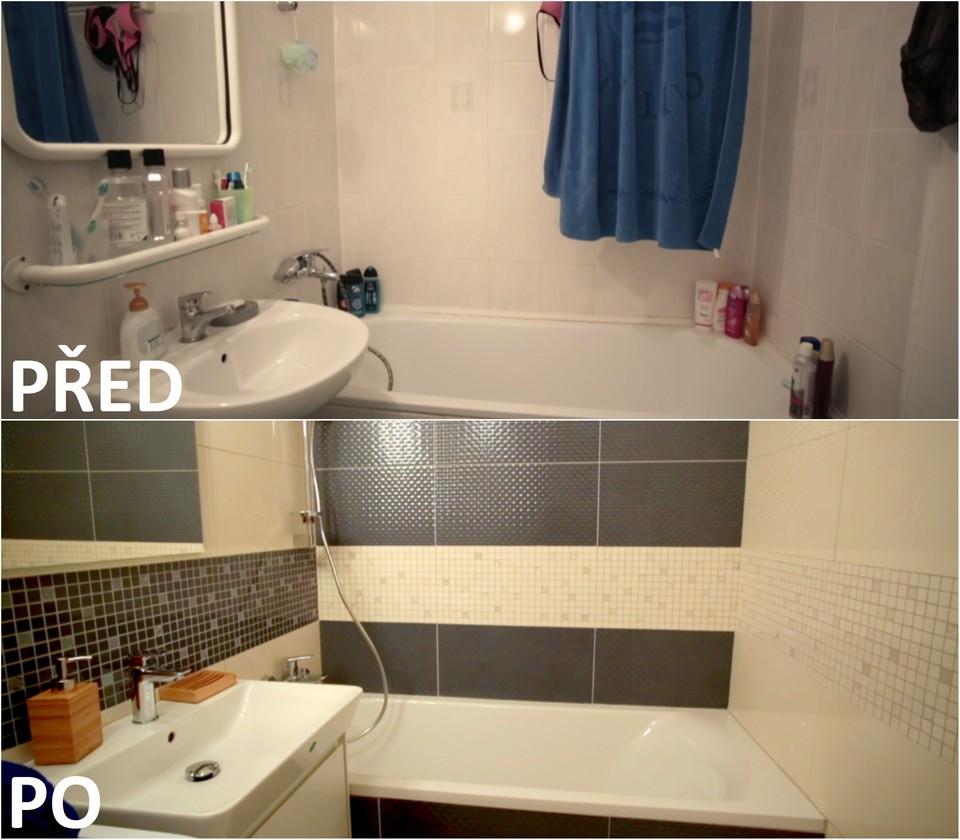 PŘED A PO: Proměna bytu Lenky a Lukáše - koupelna.