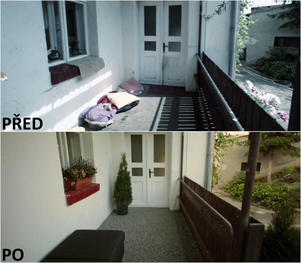 PŘED A PO: Proměna bytu Ivany Kučerové a její dcery Viki - veranda.