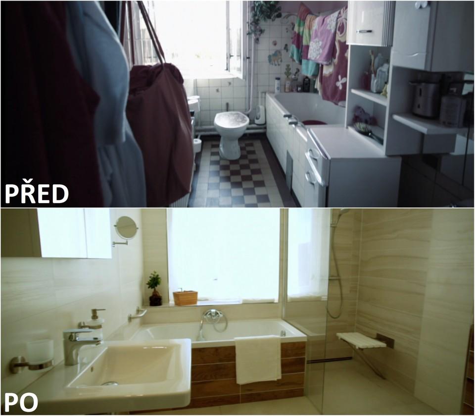 PŘED A PO: Proměna bytu Ivany Kučerové a její dcery Viki - koupelna.