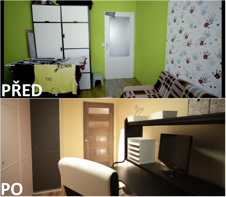 PŘED A PO: Proměna bytu Lenky a Lukáše - pracovna.