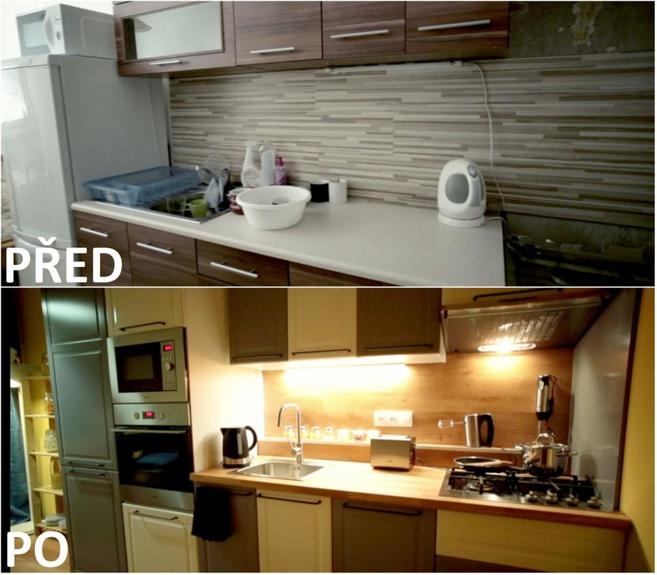 PŘED A PO: Proměna bytu Lenky a Lukáše - kuchyně.