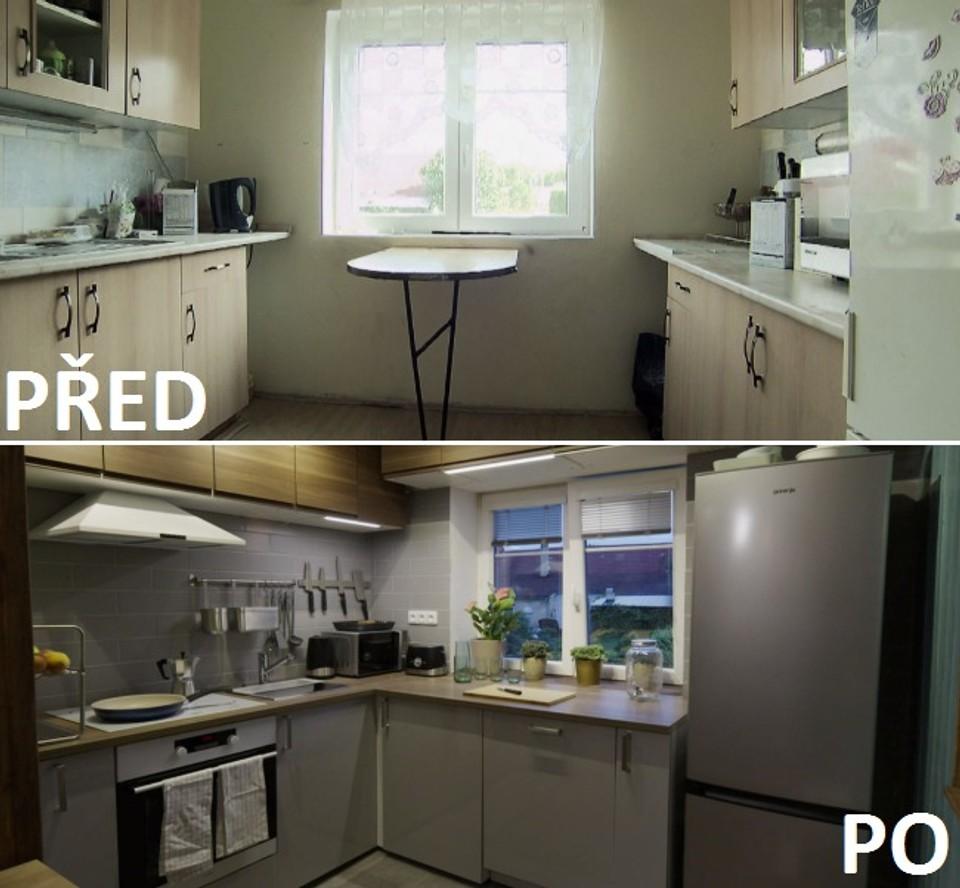 PŘED A PO - kuchyně