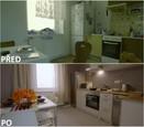 PŘED A PO: Proměna bytu rodiny Sihelských - kuchyně.