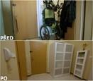 PŘED A PO: Proměna bytu rodiny Hurtových - předsíň.