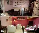 PŘED A PO: Proměna bytu Čermákových - obývací pokoj.
