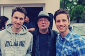 Milan Peroutka s bratrem Honzou a s Petrem Jandou