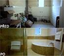 PŘED A PO: Proměna bytu rodiny Jochýmkových - koupelna.