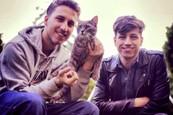Milan Peroutka s bráchou Honzou