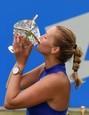 Petra Kvitová slaví celkové vítězství na turnaji v Birminghamu