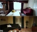PŘED A PO: Proměna bytu rodiny Jochýmkových - obývací pokoj.