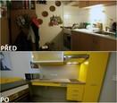 PŘED A PO: Proměna bytu rodiny Hurtových - kuchyně.