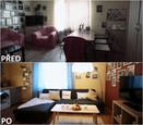 PŘED A PO: Proměna bytu Ivany Kučerové a její dcery Viki - obývací pokoj.