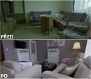 PŘED A PO: Proměna bytu rodiny Sihelských - obývací pokoj.
