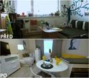 PŘED A PO: Proměna bytu rodiny Hurtových - obývací pokoj.